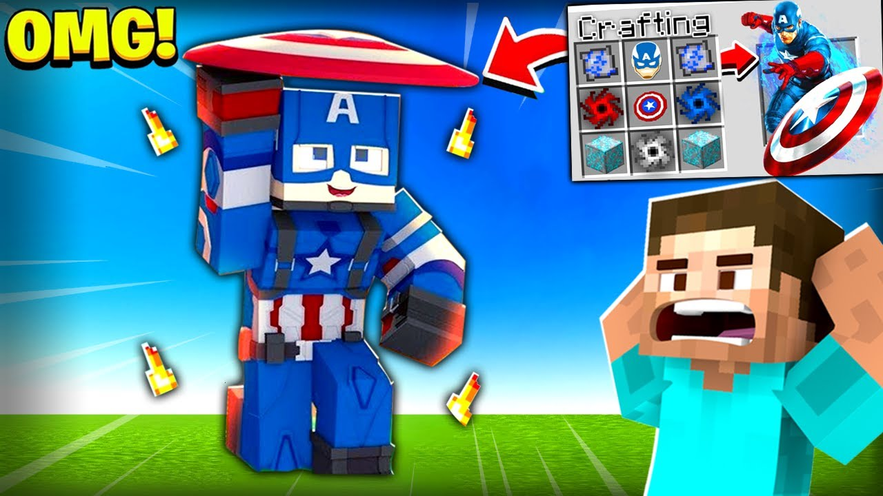 Minecraft, But You Can Craft Captain America...