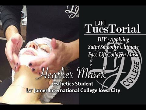 DIY : Applying Ultimate Face Lift Collagen Mask (La' James International College Iowa City)