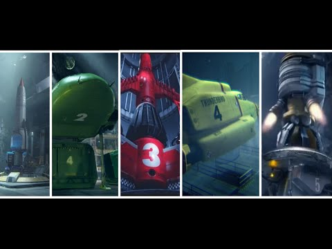 Thunderbirds 1,2,3,4 AND 5 LAUNCH! - Thunderbirds Are Go