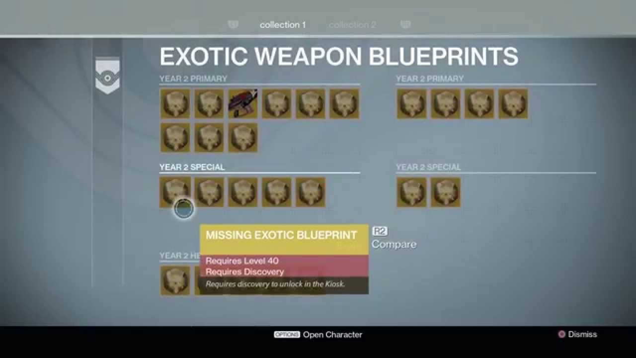 Destiny the taken king tower exotic weapons exotic armor destiny the taken king tower exotic weapons exotic armor blueprints kiosks details year 1 2 youtube malvernweather Image collections