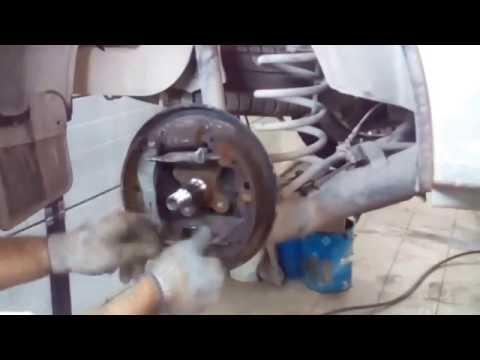 Как подтянуть ручник на ларгусе видео