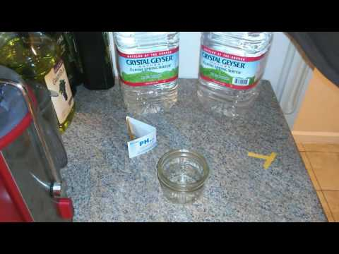Crystal Geyser water pH test vs Home tap water.