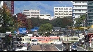 路面電車が通る紙屋町交差点 (2018.11.10)