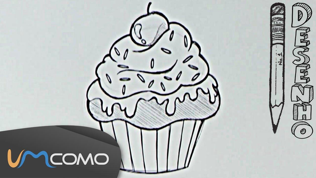 desenhar um muffin ou cupcake de forma simples youtube