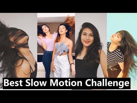 Slomo Challenge Tiktok Musically   Avneet, Mrunal, Aashika, Nagma