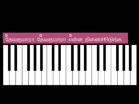 Deva Kumara Deva Kumara Keyboard Chords with Lyrics - D Chord