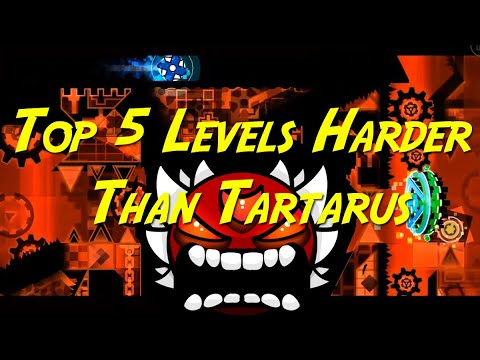 Top 5 Levels Harder Than Tartarus | Geometry Dash