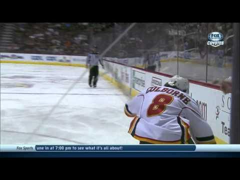 Joe Colborne backhand goal 2-2 Calgary Flames vs Phoenix Coyotes 10/22/13 NHL Hockey