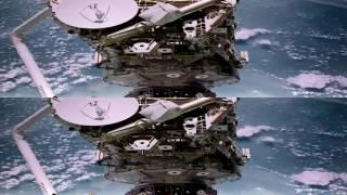 Космическая станция 3D HD. (Вертикальная анаморфная стереопара)