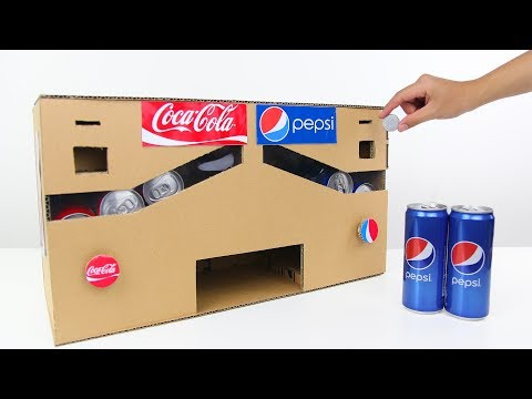 How to Make Pepsi Coca Cola Vending Machine from Cardboard