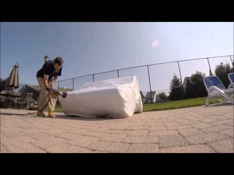 Hennys 30 Second Web Shrink wrap patio furniture long island