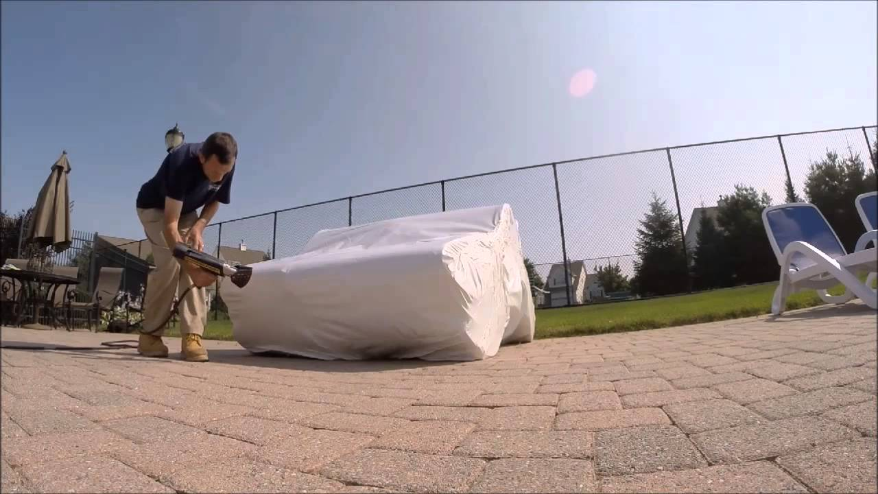 Hennys  Second Web Shrink Wrap Patio Furniture Long Island YouTube - Outdoor furniture long island