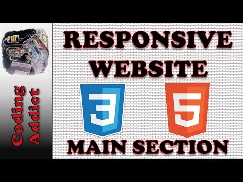 Responsive Website HTML5 and CSS3 7 - Main Section