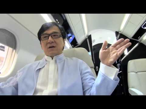 Jackie Chan launches Embraer Executive Jets' new Legacy 450 interior @ NBAA2013