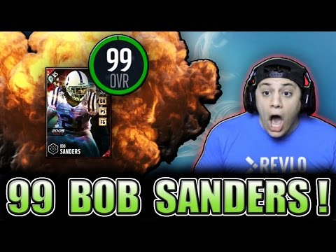 DLINE USERS ARE THE TOUGHEST OPPONENTS! (99 BOB SANDERS GAMEPLAY) - MADDEN 17 ULTIMATE TEAM