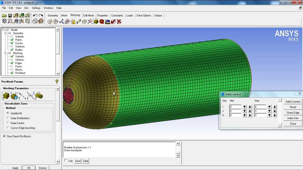 icem cfd tutorial meshing of hemisphere cylinder youtube rh youtube com ANSYS User Manual ANSYS User Manual