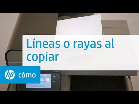 Líneas o rayas al copiar | HP Printers | HP