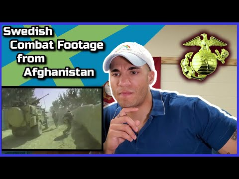 Marine reacts to Swedish Armed Forces in Afghanistan