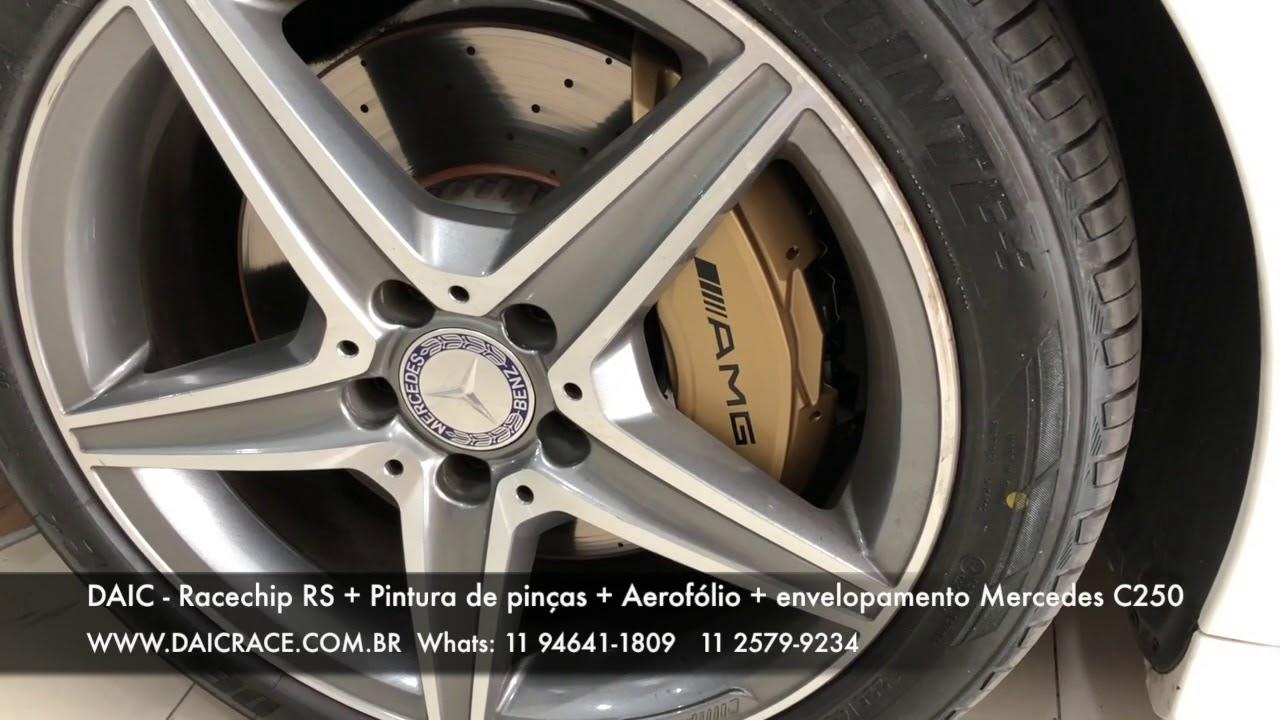 DAIC RACE - Racechip RS, Aerofólio, Sprint Booster, Pintura pinças AMG C250  2017 (11) 94641-1809