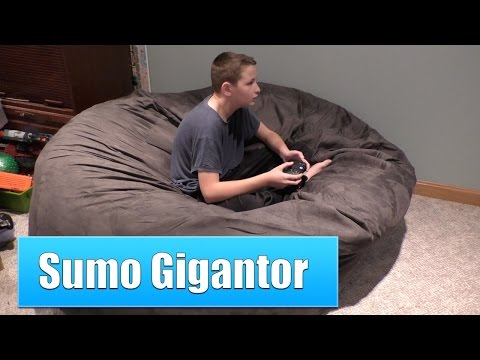 Sumo Gigantor Giant Bean Bag Chair Review, This Thing Is HUGE!