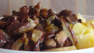 Обалденно вкусные маслята жареные в сметане