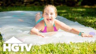 How to Make a Backyard Water Blob - HGTV Happy