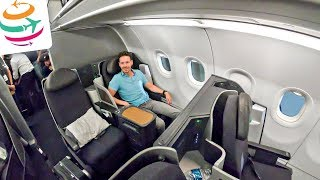 Nachts in der American Airlines A321T Business Class | GlobalTraveler.TV