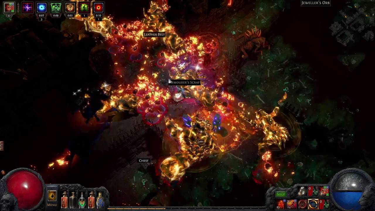 poe 2 4 tier 11 rare corrupted torture chamber map boss using srs
