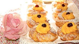 Le zeppole di San Giuseppe al forno | Le ricette di DELIZIEePASTICCi