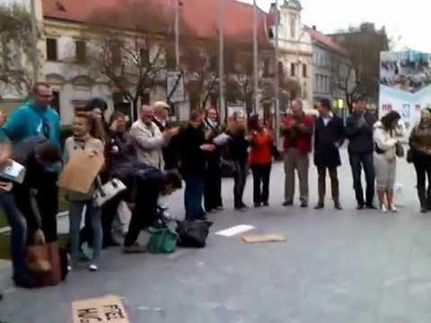 Free huggers in Bratislava