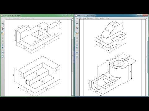 Pro Engineer Part Modeling Training Exercises for Beginners - 1