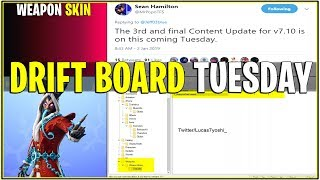 *NEW* Fortnite Update: KRAMPUS WEAPON SKIN LEAKED & DRIFT BOARD TUESDAY!