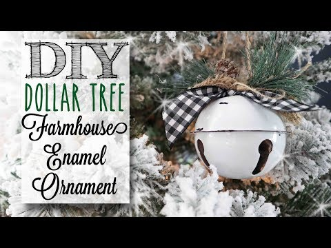 DIY Dollar Tree Enamel Ornaments | 1 of 12 Days of Christmas