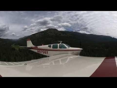 [360 Video] Beechcraft Debonair arrival and landing at Minam River Lodge, Oregon (7OR0)