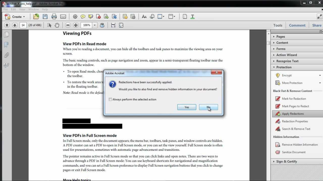 How to Produce A Password-Protected PDF Record in Adobe Acrobat (Using a Safety Cover)