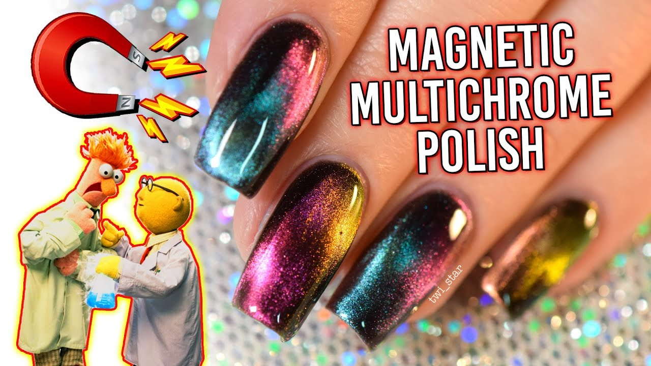 EXPERIMENTS with Multi-chrome MAGNETIC Polish! FUN Lacquer! - YouTube