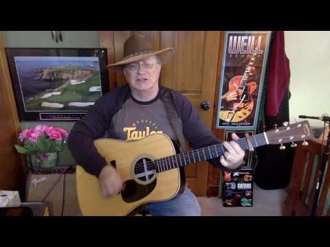 2177 -  Redneck Friend -  Jackson Browne cover -  Vocal & acoustic guitar & chords