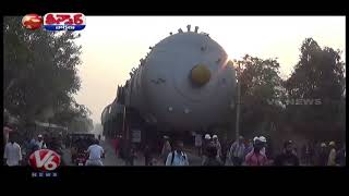 LargestTruck With 520 Tires In Vizag,Truck Carries Big Diseal Tanke...