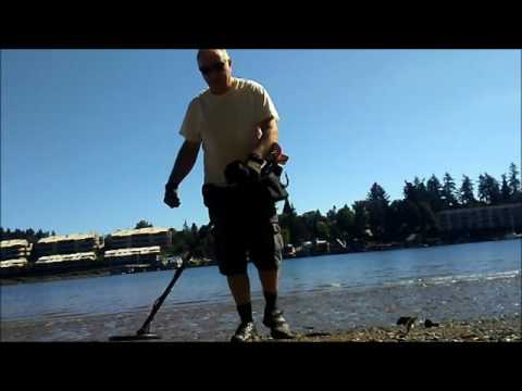 Metal detecting with an MD-6250 on a Willamette river  beach in Oregon .