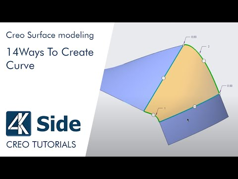 PTC Creo 4.0 tutorial: 14 Ways To Create Curve
