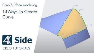 PTC Creo 4.0 tutorial: 14 Ways To Create Curve