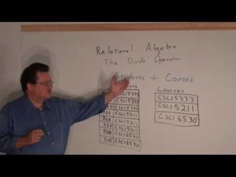 UHCL 17a Graduate Database Course - Relational Algebra - Divide