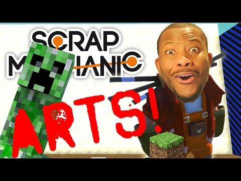 Scrap Mechanic - SCRAP ARTS! Vs. Tomohawk   MINECRAFT!