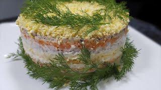 """Салат """"Мимоза"""" рецепт с консервой - Вкусно и Недорого!"""