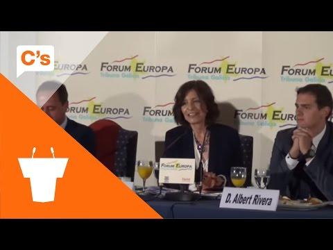 Nueva Economía Forum en Santiago. Debate con Albert Rivera y Cristina Losada