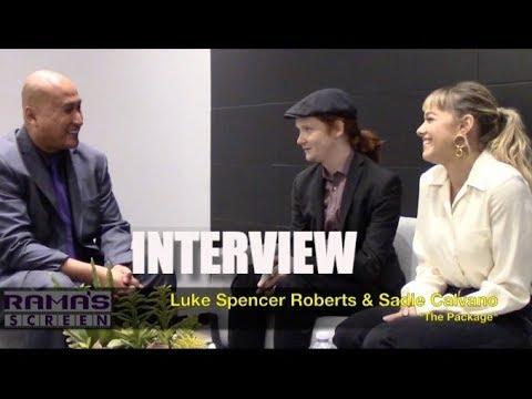 My Full  with 'THE PACKAGE' Stars, Luke Spencer Roberts and Sadie Calvano