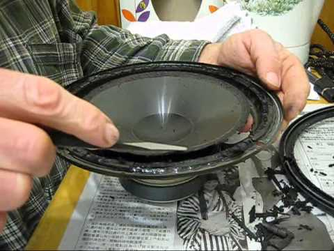 SPEAKER REPAIR - HOW TO REFOAM YOUR WOOFER with NEW SPEAKER SURROUNDS