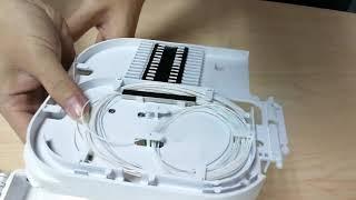 blockless splitter installation in optical splitter box