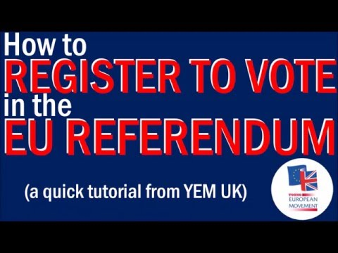 How to Register Your Vote