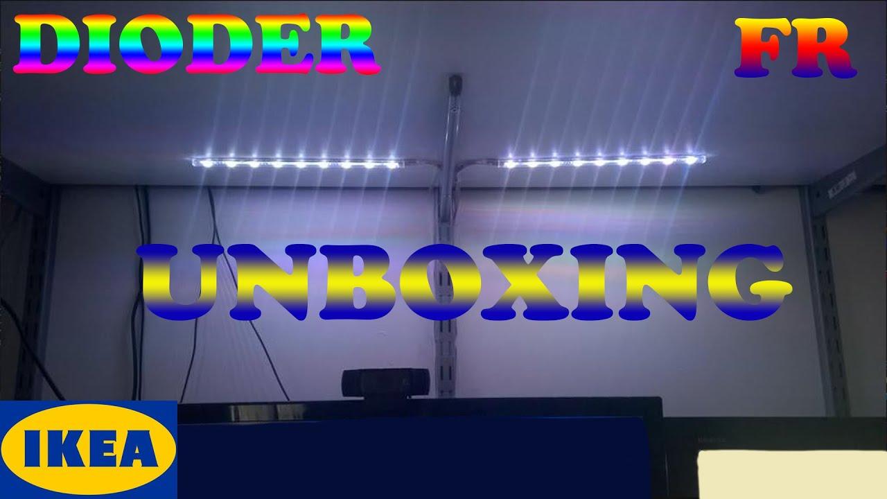 fr d balage pr sentation dioder baguettes lumineuses led ikea youtube. Black Bedroom Furniture Sets. Home Design Ideas
